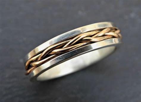 Buy a Custom Made Celtic Wedding Band Men, Gold Braided