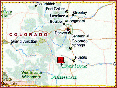 Crestone Colorado Map Crestone Colorado Map | World Map Gray