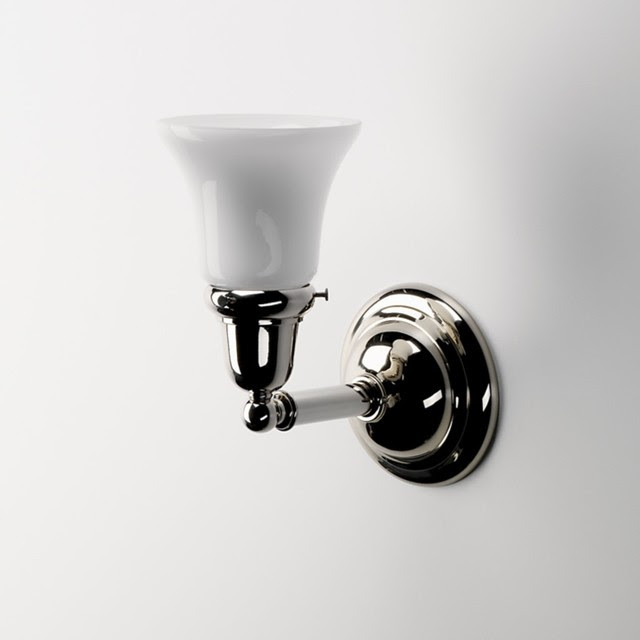 Wall Mounted Single Arm Sconce with Cone Glass Shade - traditional