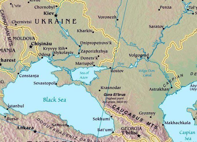 Liaison Mer Noire - Mer Caspienne par les voies navigables intérieures Russes...