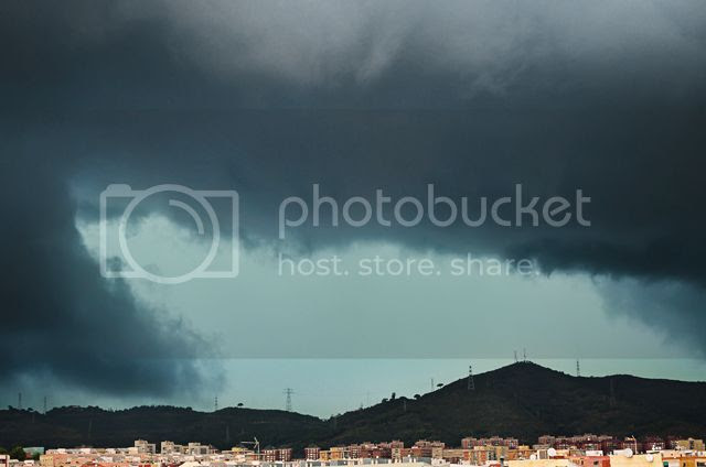 Stormy clouds, Barcelona, Spain [enlarge]