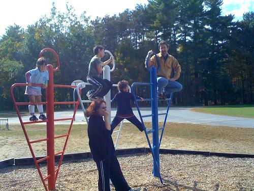 Hanging around the playground