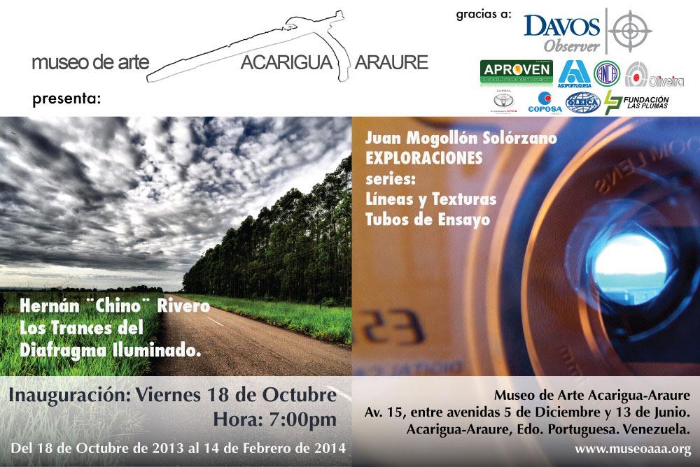 Exposiciones Hernan Chino Rivero Y Juan Mogollon En El Maaa Museo De Arte Acarigua Araure