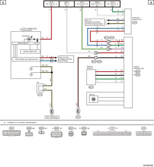 Subaru Legacy Service Manual Electric Power Steering System Wiring Diagram Wiring System