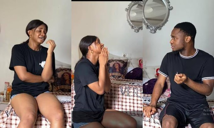 Iyabo Ojo's Daughter Plays Pregnancy Prank On Brother, See How He Reacted (Photos)