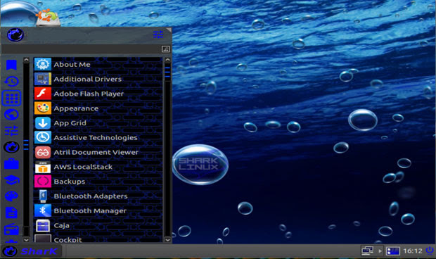 SharkLinux OS MATE desktop