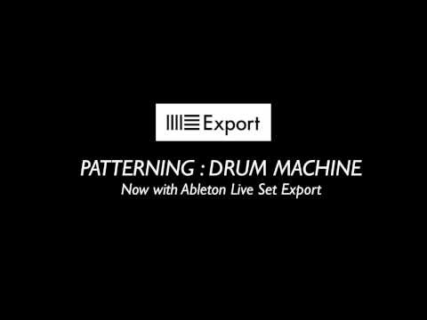 MATRIXSYNTH: Patterning Drum Machine Adds Ableton Live Set