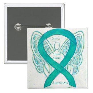 Sexual Assault Awareness Angel Ribbon Pin
