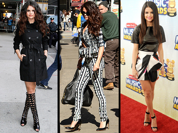 Selena Gomez dresses, shoes