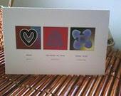 Adinkra Love Symbols Greeting Cards - Purple Hues - Set of 6