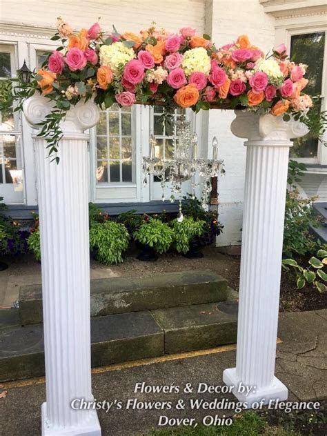 Wedding Ceremony Arch created with white Roman Columns