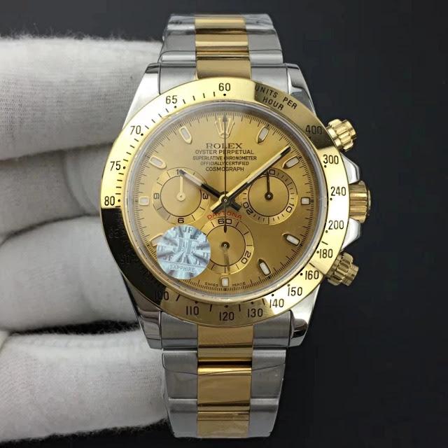 Replica Rolex Daytona Two Tone Gold