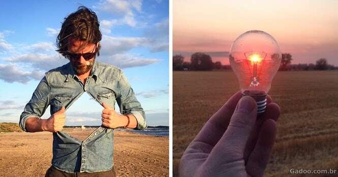 Homem cria ilusões surreais em fotos registradas com seu iPhone