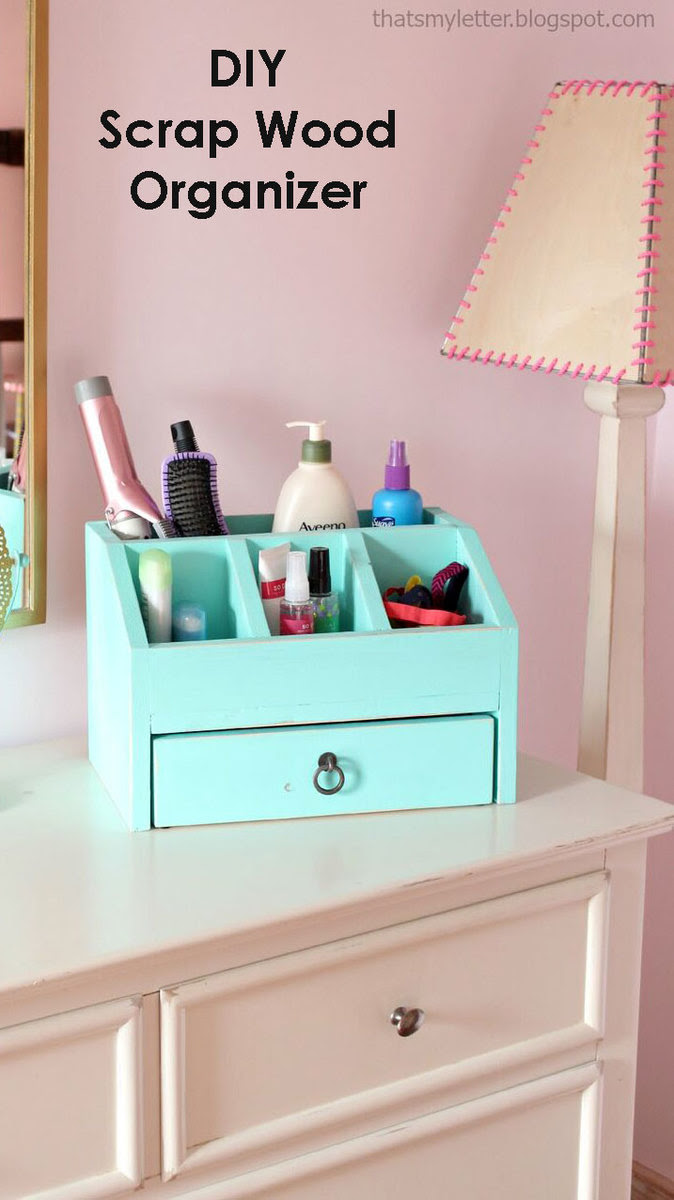 Ana White Desktop Office Or Vanity Beauty Organizer Diy Projects