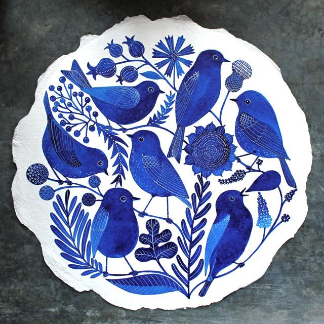Seven Bluebirds