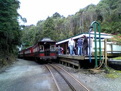 Train at station on ABT Railway