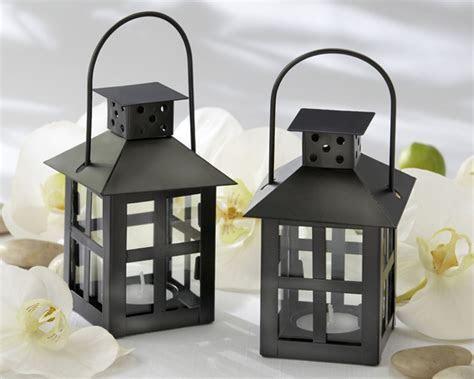 Black Mini Lantern Tea Light Holder   Black Tea Light