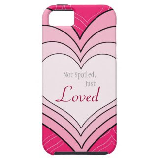 Pink Hearts Spoiled Loved iphone 5 Case