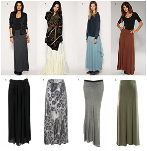 Fall Maxi Skirt Looks