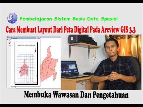 Cara Membuat Layout Dari Peta Digital Pada Arcview GIS 3.3