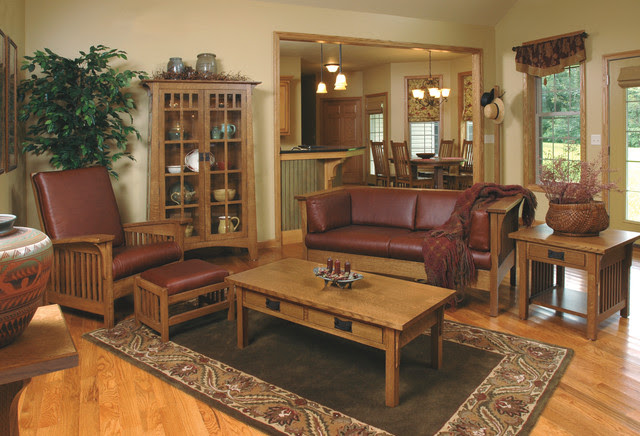 Mission-style White Oak Living Room Furniture - Craftsman ...