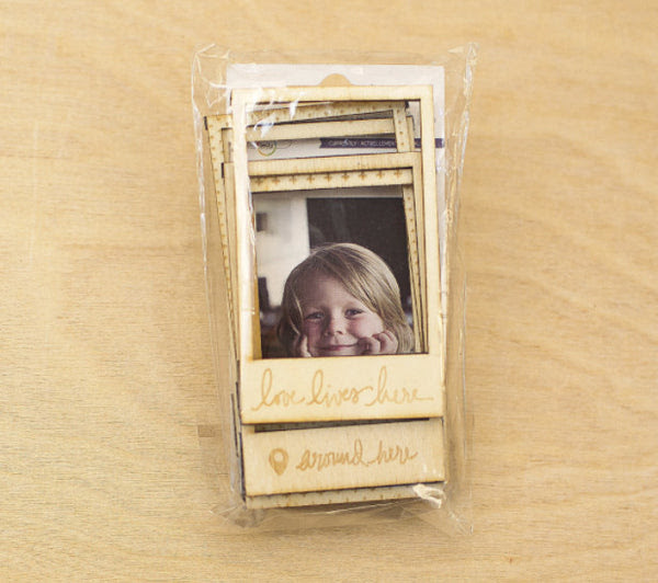 Currently Wood Magnetic Frames Polaroid Snap 2x3 Scrapbooking