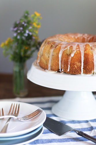 rhubarb lemon buttermilk cake
