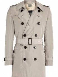 Burberry Brit Taupe Check Lined Britton Packable Trench Coat