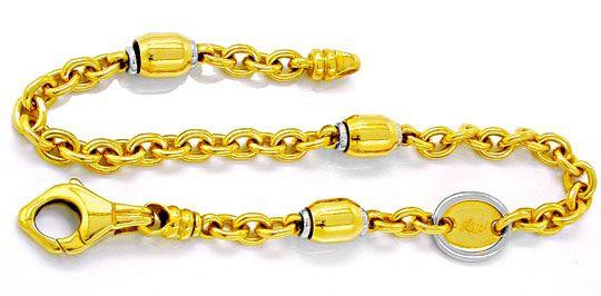 Foto 1, 1A Designer Gelbgold Weissgold Armband 18K/750 Shop Neu, K2883