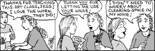 Home Spun comic strip #677