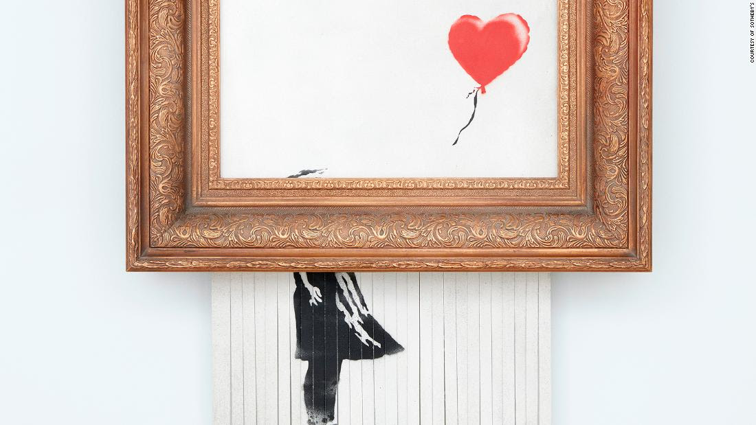 Second sale of Banksy's shredded painting sets staggering new record at $25.4 million