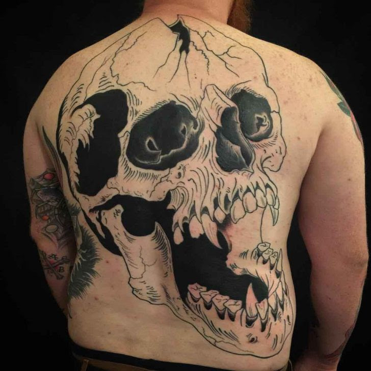 Skull Tattoo On Back Best Tattoo Ideas Gallery
