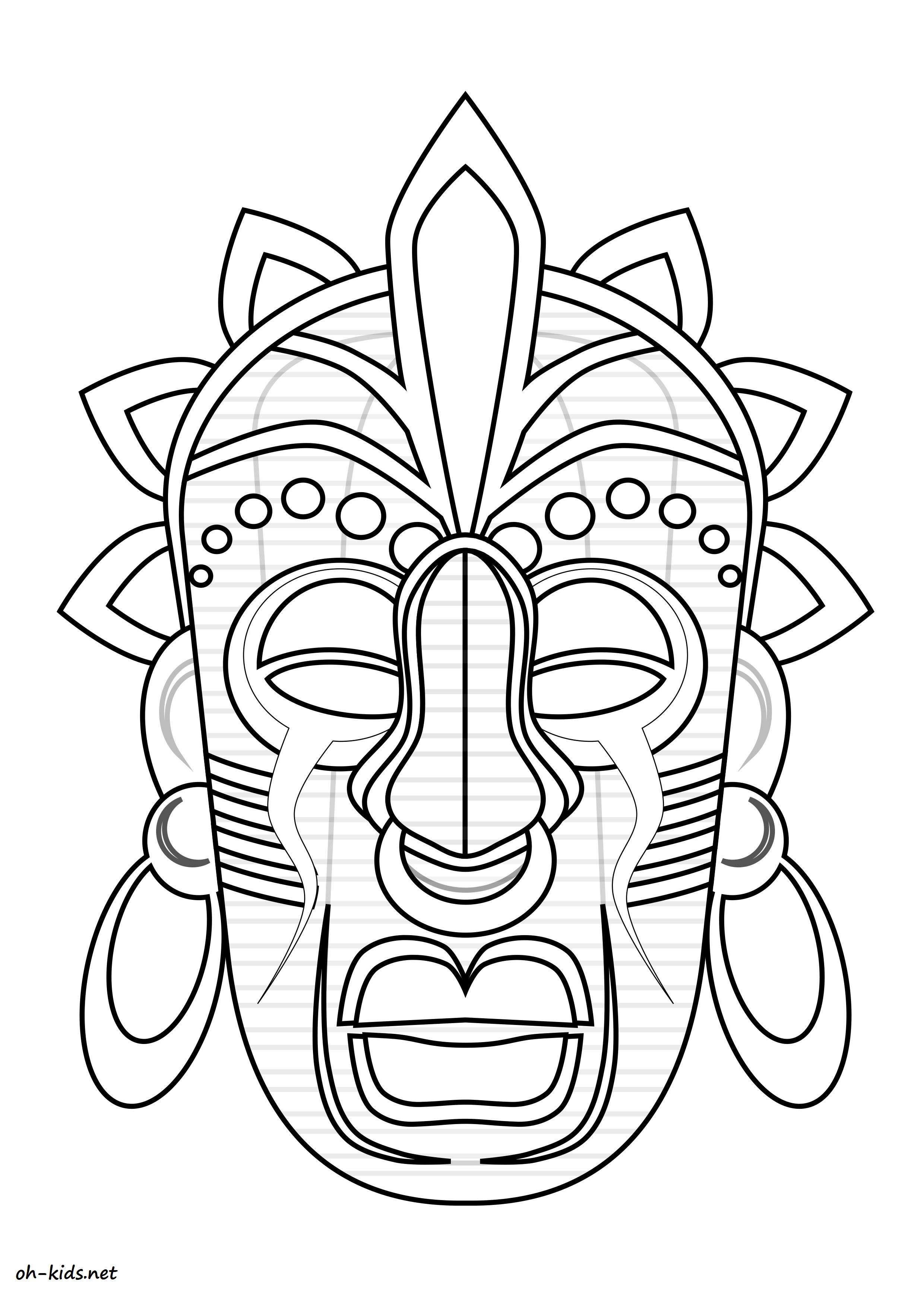 dessin de masque Afrique Dessin 695