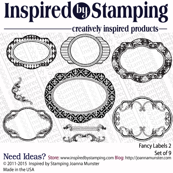 Inspired by Stamping Fancy Labels 2 stamp set