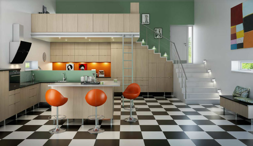 Mid 60s Mod Norwegian Kitcheninterior Design Ideas