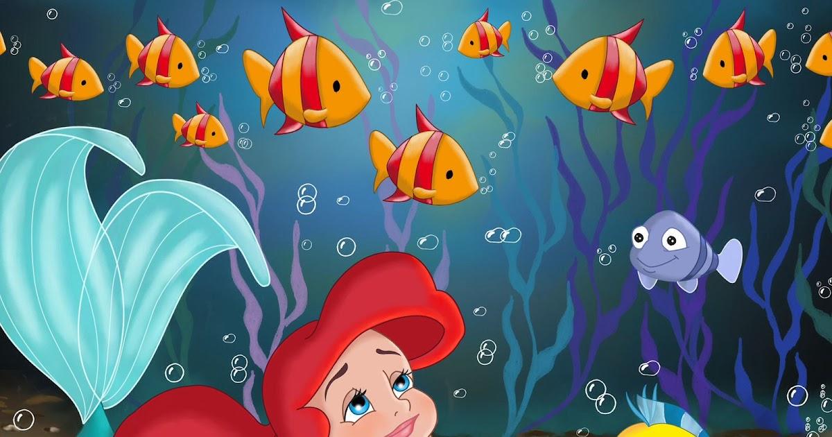 Cartoon Baby Little Mermaid