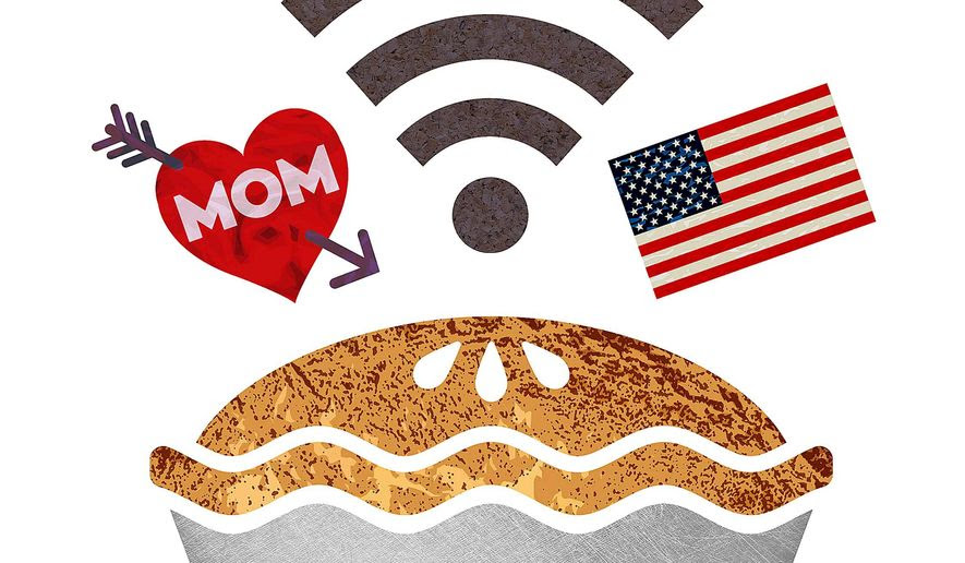 Mom, Apple Pie and Technology Illustration by Greg Groesch/The Washington Times