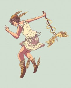 Hermes (Mercury) Greek God - Art Picture by p-oty
