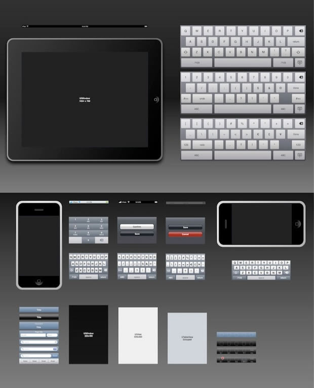 iPad and iPhone Design (OmniGraffle)
