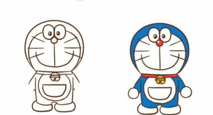 Doraemon Drawing For Kids Step By Step