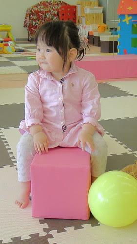 Miyu, with her scrunchy