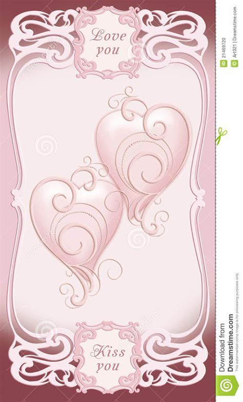 Wedding And Valentine Invitation, Frame, Heart Stock Photo
