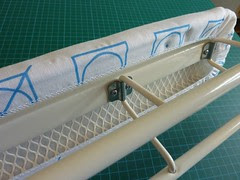 Sleeve Board - View underneath of metal mesh
