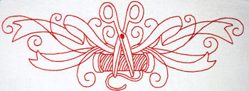 Redwork Embroidery Borders Set