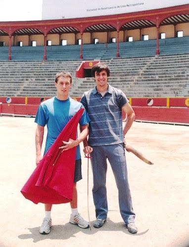 Alfonso Simpson y Fernando Roca Rey en Acho
