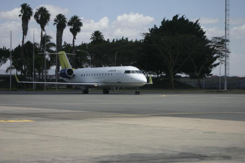 A Jetlink CRJ200 in Nairobi