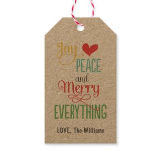 Christmas Gift Tags | Kraft Merry Everything
