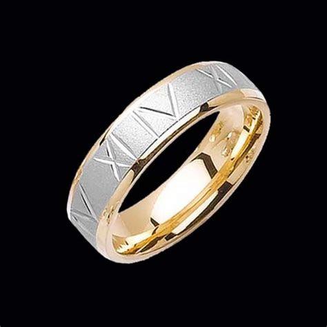 roman numeral wedding band