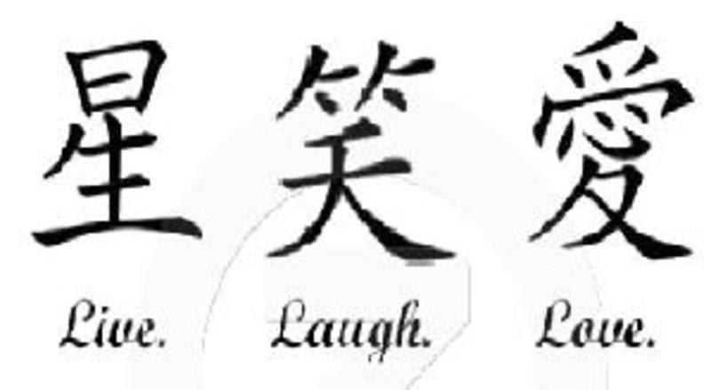 Kanji For Live Laugh Love Tattoo Ideas Tattoomagz
