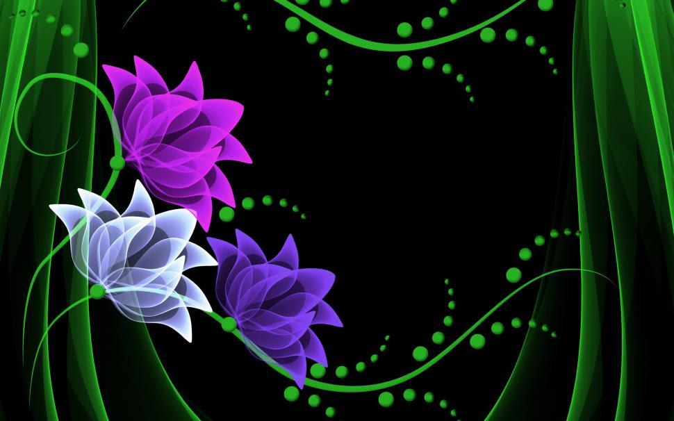 Neon Flowers Wallppaer Wallpaper 3d And Abstract Wallpaper Better